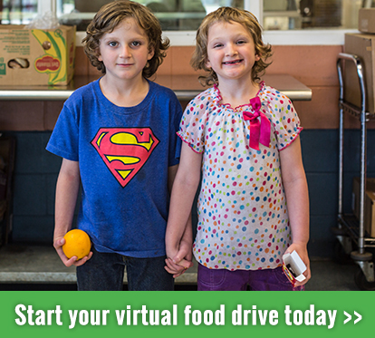 Start a virtual food drive and gift hope this winter