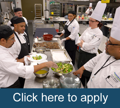 Click here to apply to our culinary training program