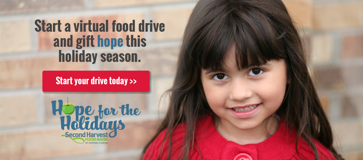 Start a virtual food drive and gift hope this holiday season