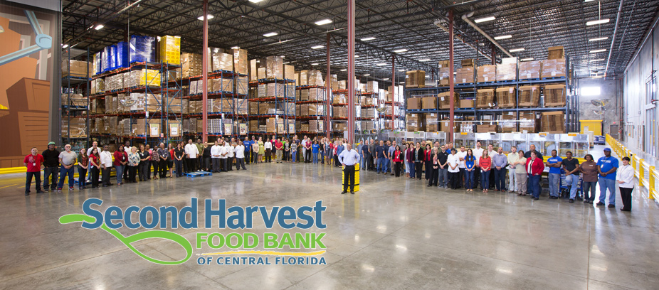 Second Harvest Food Bank staff in our warehouse